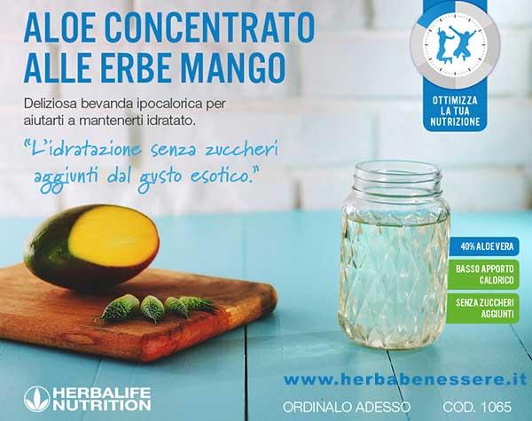 aloe concentrato alle erbe gusto mango herbalife nutrition